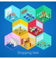 Isometric Shopping Mall Interior with Boutique vector image vector image