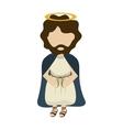 Jesus cartoon angel religion vector image vector image