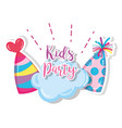 kids party cartoon vector image
