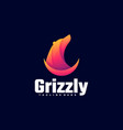 logo grizzly gradient colorful style vector image vector image
