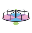 manually powered playground carousel or roundabout vector image vector image