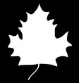 maple leaf white silhouette sign 308 vector image vector image