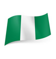 national flag of nigeria representing three vector image vector image