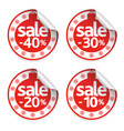 new year sale stickers set vector image
