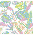 pastel jungle white background vector image