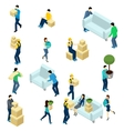People Relocating Isometric vector image vector image
