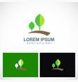 plant landscape green logo vector image vector image