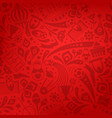 red soccer championship trendy pattern ornament vector image vector image