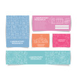 science information cards set laboratory template vector image vector image
