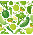 seamless texture with green vegetables and fruits vector image