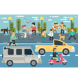 set life style free time elements flat vector image