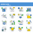 set of business and digital money icons vector image