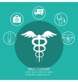 set symbol medicine services medical isolated vector image vector image