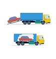 Small avto loading into truck vector image