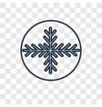 snowflake concept linear icon isolated on vector image
