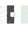 Snowflake patterns vector image