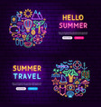 summer website banners vector image vector image