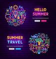 summer website banners vector image