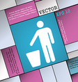 throw away the trash icon sign Modern flat style vector image