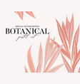 tropical palm leaves pastel art jungle banner vector image