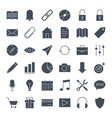 user interface solid web icons vector image