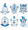 vintage heraldic coat of arms designed in award vector image vector image