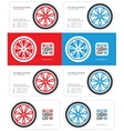 wheel business card 1 vector image vector image