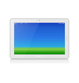 White Tablet PC Horizontal Copy Space vector image vector image