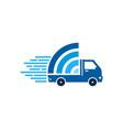wifi delivery logo icon design vector image