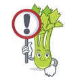with sign celery character cartoon style vector image vector image