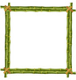 wooden frame made of green bamboo sticks vector image vector image