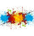 abstract bright watercolor stains vector image
