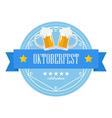 Beer festival Oktoberfest retro flat badge vector image