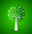 Green swirl tree vector image
