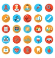 Medicine and health care flat icons vector image