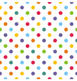 Seamless pattern texture with corolful polka dots