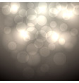 Abstract beige bokeh background vector image vector image