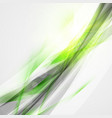 abstract green wave background for poster flyer vector image vector image