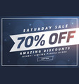 amazing saturday discount and offer template vector image vector image