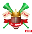 Announcement Sporting Poster with Football Ball vector image vector image
