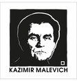 Artist Kazimir Malevich and Black Square vector image vector image