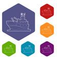 battleship icons hexahedron