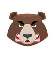 bear angry emoji grizzly aggressive emotion face vector image vector image