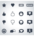 black like icon set vector image
