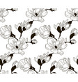 black seamless pattern with drawn cherry vector image