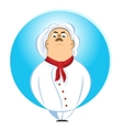 brutal chef looking down on his subordinates vector image vector image