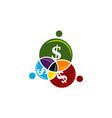 business teamwork logo design template vector image
