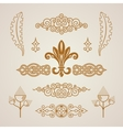Calligraphic vintage elements baroque set vector image vector image
