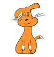cartoon ginger dog isolated on vector image