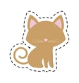 Cat pedigree feline adorable cut line vector image